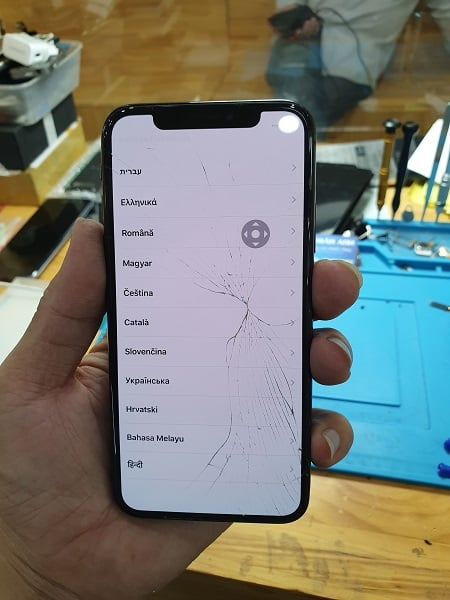 iphone x bi be kinh