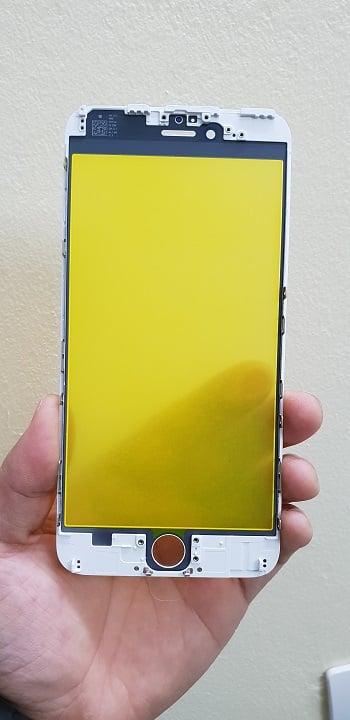 ép kính iphone 6 trắng