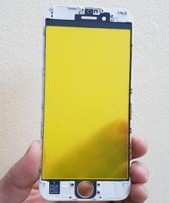 ép kính iphone 6s trắng