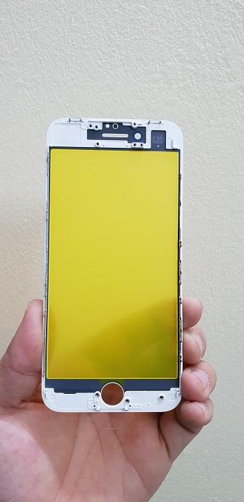 ép kính iPhone 8 trắng