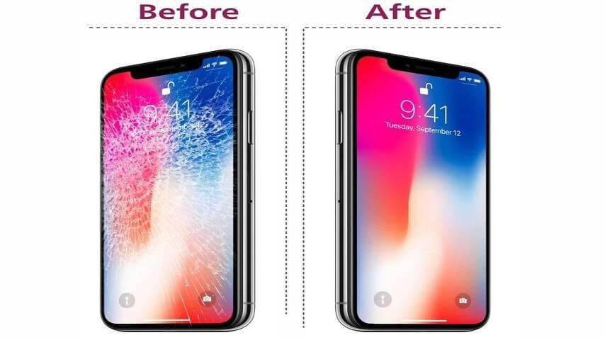thay mặt kính iPhone X điện thoại trần anh